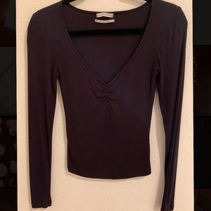 Black Cropped Long Sleeve